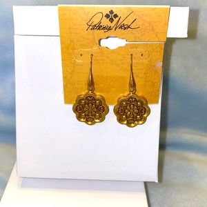 PATRICIA NASH. ANTIQUE GOLD DANGLE EARRINGS. STYLE